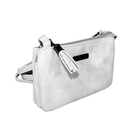 New Bags Mini-Ausgehtasche Handtasche Umhängetasche klein Weiß