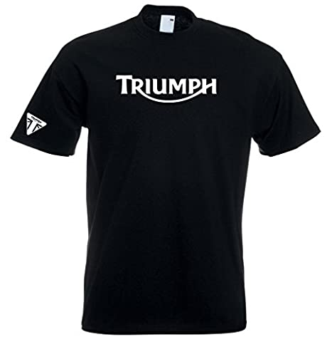 Juko Triumph T Shirt Motorcycle Motorbike 1335 Retro Top. Black, X-Large