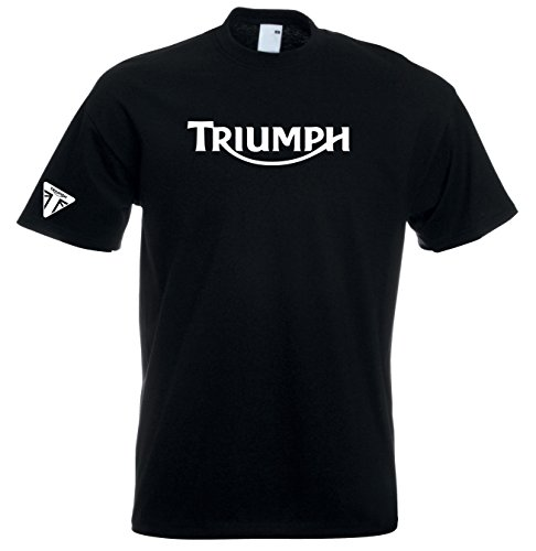 Juko Triumph T Shirt Motocicletta 1335 Retro Top Nero XL