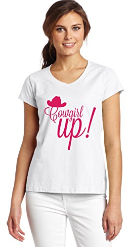 Cowgirl Up Women's V-Neck T-Shirt XX-Large (Up Cowgirl T-shirts)