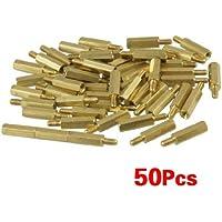 SODIAL(R) 50 x Distanciador Hex Tornillo PCB M3 Macho x M3 Hembra 15mm Longitud