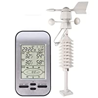 Wireless Weather Station Anemometer With Wind Speed Direction Sensor Digital Wind Chill Temperature