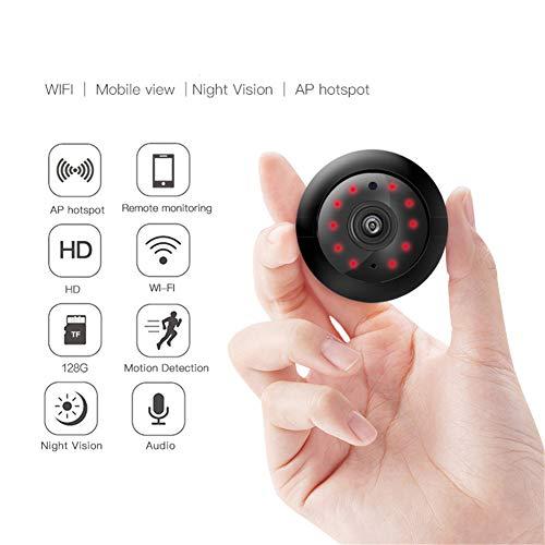 Konnison-1 Telecamera IP Fisheye 720P HD Telecamera WiFi 180 Gradi Rete Wireless Home Security IR Pulsante Mini Baby Camera Monitor, Voce a Due Vie