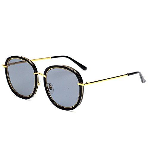 Wkaijc Hochwertige Weibliche Gezeiten Polarisiert Männer Mode Rundes Gesicht Dunkle Brille Sonnenbrille ,A