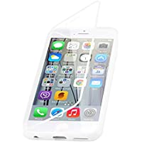 JammyLizard Silikon-Schutzhülle mit transparentem Klappdeckel für iPhone 6 und 6S – weiß