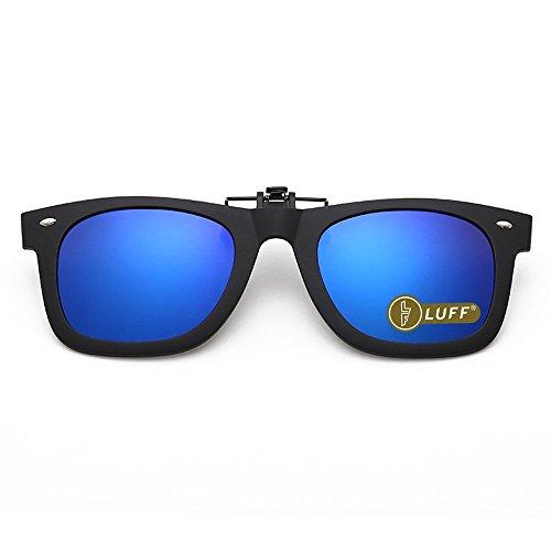 LUFF Gafas sol polarizadas clip Unisex-Elegantes cómodos