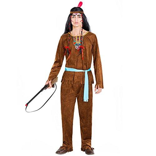 Herrenkostüm Indianer Apache   Kostüm + Haarband mit Federn & Bindegürtel   Häutpling Indianerin Verkleidung (L   Nr. (Kostüm Ideen Armee Frau)