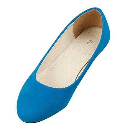 Minetom Pantofole Stile Semplice Scarpe Comode da Donne FlatsPompe Cielo Blu