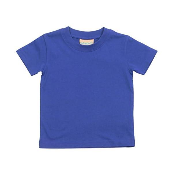 Larkwood- Camiseta de manga corta de cuello redondo para bebé (0-6 Meses, Jade) 4