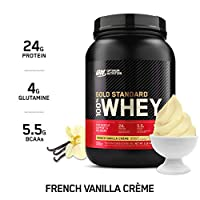 Optimum Nutrition Gold Standard 100% Whey Protein Isolate Powder, French Vanilla Creme, 2 Pound, 29 Servings