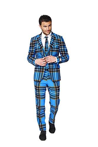 Braveheart Schottland Anzug Karo Muster Opposuit Slimline Premium 3-teilig Gr. (Braveheart Kostüm Muster)