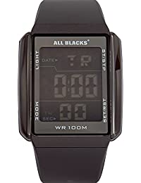 All Blacks - 680033 - Montre Homme - Quartz Digital - Cadran Noir - Bracelet Silicone Noir