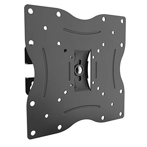 RICOO TV Wandhalterung R12 Universal für 13-32 Zoll (ca. 33-81cm) Schwenkbar Neigbar Fernseh Halterung Aufhängung auch für Curved LCD Fernseher Wand Halter | VESA 50x50 200x200 | Schwarz