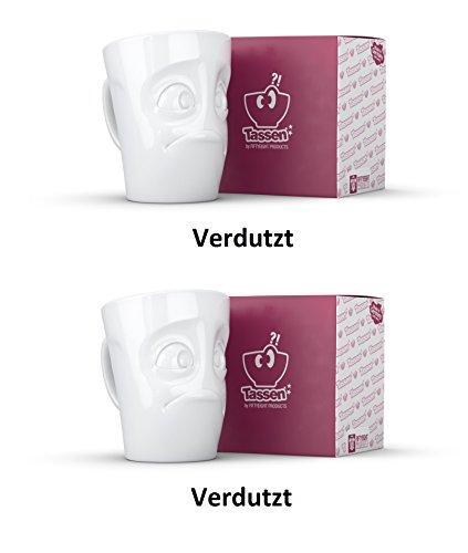 FIFTYEIGHT PRODUCTS TV Tassen Henkelbecher Henkeltasse Verdutzt je 350ml; 2er Set