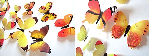 Selbstgemachte Deko Ideen Für Halloween - Berrose-12pcs 3D Schmetterlinge Magnetischer Wandaufkleber Wanddeko