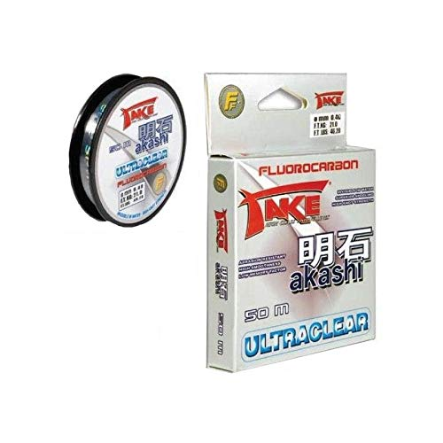 Lineaeffe Angelschunr Take Akashi Fluorocarbon Ultraclear 0.12 mm 50 m Fluorocarbon Meer Spinning Surfcasting Forelle Bolo See