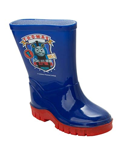 Boys Kids Thomas The Tank Engine Blue Wellies RAIN Wellington Boots UK Size 5-10