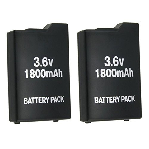 2x New 3.6V 1800mah Rechargeable Battery for Sony PSP-110 PSP-1001 PSP 1000 US by Hyland Authentic Store