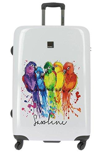Saxoline Koffer Parrot Papagei Vogel XL 77x53x30cm Hartschale Reisekoffer Trolley Case Bowatex