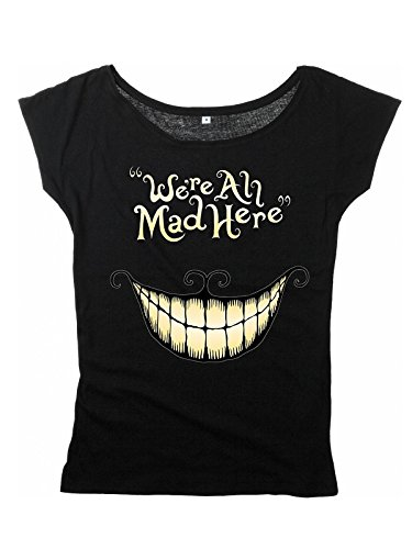 Alice In Wonderland Mad Mouth Maglia donna nero XL