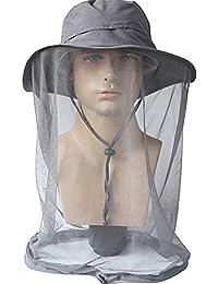 Camping Anti-Moskito Kopf Gesichtsschutz UV Schutz Mütze abnehmbar und Mützen Camping & Outdoor