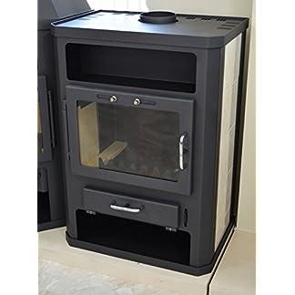 Estufa de leña 14/18 kW calefacción de cerámica forrado superior