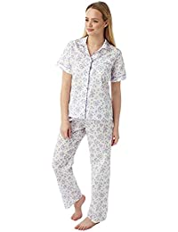 Undercover Womens Marlon Nightwear Poly Cotton Short Sleeve Floral Pyjamas Pjs Size 10-30