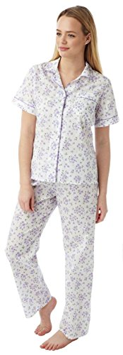 Womens Marlon Nightwear Poly Cotton Short Sleeve Floral Pyjamas Pjs Size 10-30 - 41jXTZt0oXL - Womens Marlon Nightwear Poly Cotton Short Sleeve Floral Pyjamas Pjs Size 10-30