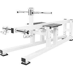 GORILLA SPORTS® Rudergerät/Rückentrainer Weiß - bis 250 kg belastbar