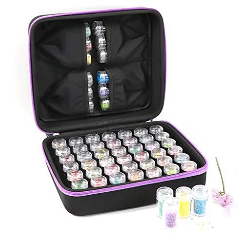 für 5D Diamant Malerei Werkzeug Diamant Stickerei Sortierbox in Aufbewahrungbox Werkzeugbehälter Schmuck Organizer Diamond Painting Box für Nägel, Strass, Perlen etc. (42 Slots)
