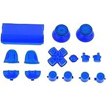 Reemplazo Botones Mod Kit para Sony PS4 Controlador Azul