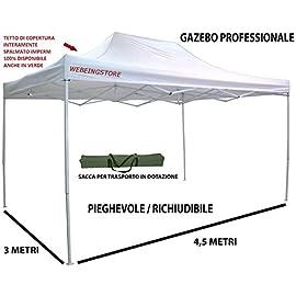 Gazebo da Giardino Conemi Gazebo Pieghevole Impermeabile 2,5 x 2,5 m 2 x 2 m Gazebo da Giardino Tenda Pieghevole Tenda Pieghevole Professionale
