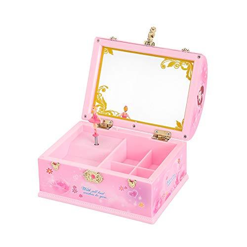 NOVELOVE Kinder-schmuck-Box Musik-Box Prinzessin Koffer Kommode Oktav Box Geschenk 15 X 10.5 X 16cm - Musikalische Schmuck-box