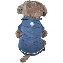 Chaqueta Abrigo Lana de Mascotas Forrada Prenda de Ropa para Perros (GRIS, M)