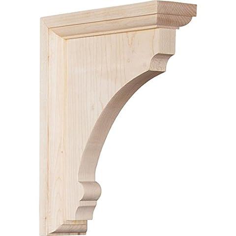 Ekena BKTW02X06X08TMAL 2 1/2-Inch Width x 6-Inch Depth x 8-Inch Height Medium Thompson Wood Bracket -