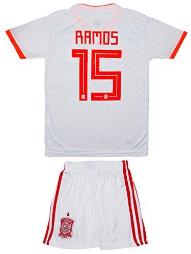ATB Spanien 18/19 Kinder Trikot und Hose - Ramos, Asensio, Morata (140, Ramos (Auswärts))
