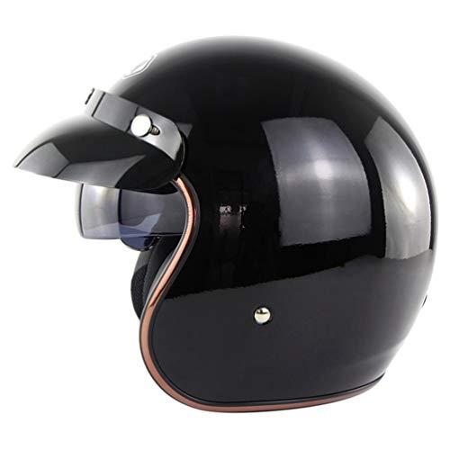 Erwachsene Retro Leder Pilot Motorradhelm UV-Schutz Anti Fog Leichte Unisex Harley Helm Stoßfest Anti Fall Atmungsaktiv Komfort Zyklus Sicherheitskappen Jahreszeiten Universal -