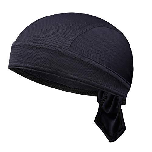 GWELL Unisex Bandana Cap Atmungsaktiv Piraten Kopftuch Bikertuch UV Schutz Fahrrad Erwachsene Radsport Einfarbig Dunkelblau