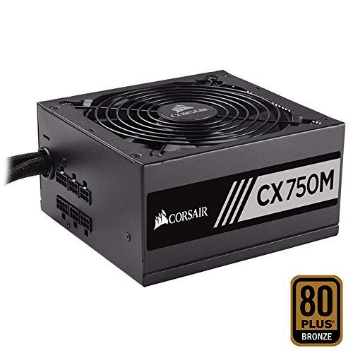 Corsair CX750M Alimentatore PC, Semi Modulare, 80 Plus Bronze, 750 W, EU