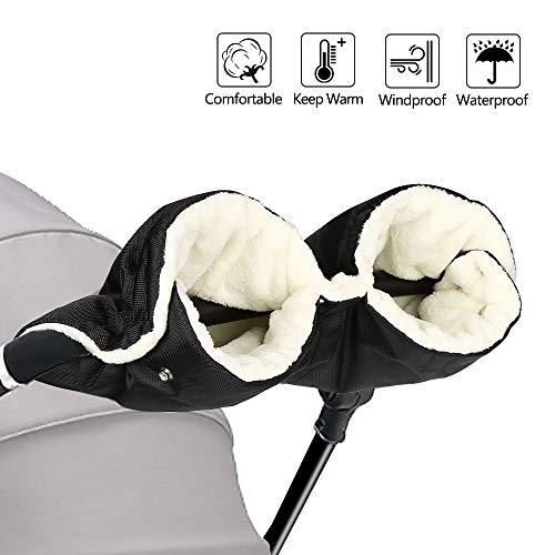 Grau Kinderwagenhandschuhe Winter Warm Push Chair Winddichte Handschuhe Wasserdicht Fleece Kinderwagen Zubeh/ör