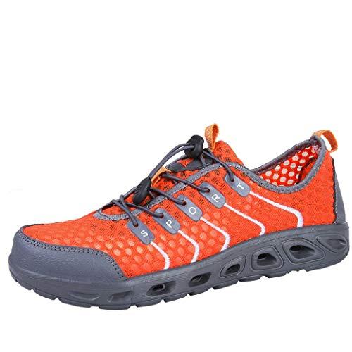 Wanderschuhe Herren Damen Sportschuhe Uniex Rutschfeste Laufschuhe Creek Schuhe Sportschuhe Schnürschuhe Männer Sneakers Bergsteigen Joggingschuhe Outdoor Turnschuhe Freizeitschuhe,ABsoar