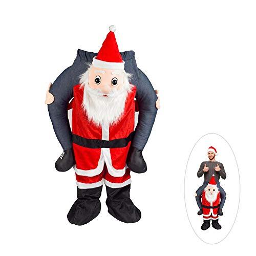 (Weihnachtsmann Kostüm Weihnachtsmann Reiten mich Huckepack Erwachsene Xmas Clause Kleidung Requisiten Für 59,05