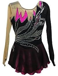 Heart&M Vestido de Patinaje Sobre Hielo Patinaje Vestidos y faldas Vestidos Alta elasticidad Figura vestido de