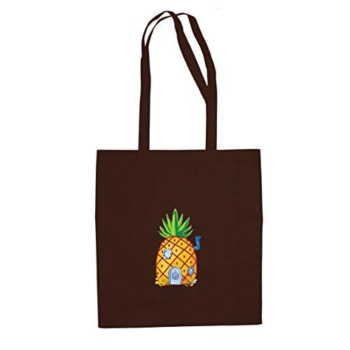 Ananas tief im Meer - Stofftasche / Beutel, Farbe: braun