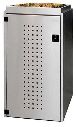 Reinkedesign Mülltonnenbox Boxxi 1-4x240L mit Pflanzdach in Edelstahl V2A als Bausatz