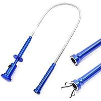 Herramienta de recogida de imanes Grabber Reacher flexible Agarre de resorte largo magnético 4 garras con luz LED para jardín Herramientas de recolección de limpieza de alcantarillas para inodoros dom