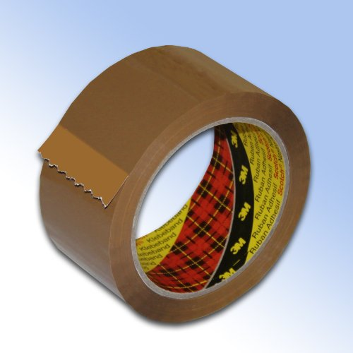 12-rollos-buff-3m-scotch-cinta-de-embalaje-48mm-x-66-m