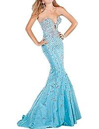 Vestido de tafetan azul santorini