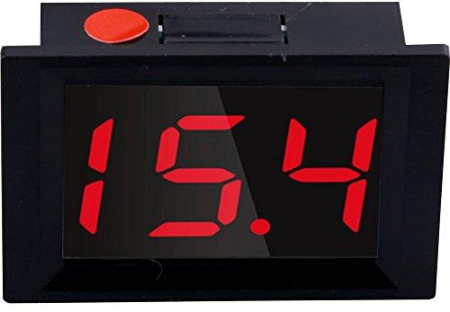 Yeeco XH-B312 Incrustado DC 10-14V Digital Termómetro Termostato Temperatura Panel Metro -50 - 110 ℃ PrecisiónTemperatura Detector Medición (Negro Shell / LED Rojo)