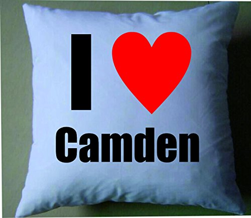 I love Camden Retro Shabby Chic Kissenbezug Camden Bone China
